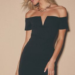 Cheers to This Black Off-the-Shoulder Bodycon Dress | Lulus (US)