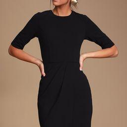 Westwood Black Half Sleeve Sheath Dress | Lulus (US)