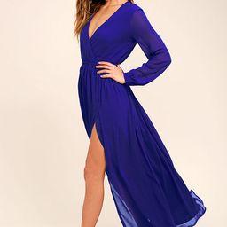 Wondrous Water Lilies Royal Blue Maxi Dress | Lulus (US)