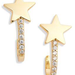 Star Pave Huggie Hoop Earrings   Nordstrom
