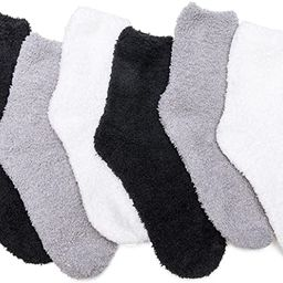 Women's Cozy Fluffy Socks Fuzzy Socks Plush Socks 5,6,7,8 Pairs | Amazon (US)
