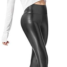Ginasy Faux Leather Leggings Pants Stretchy High Waisted Tights for Women | Amazon (US)