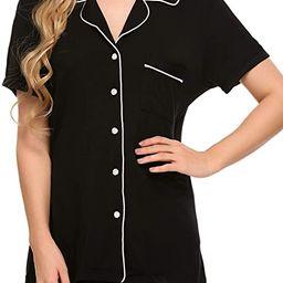 Ekouaer Pajamas Set Short Sleeve Sleepwear Womens Button Down Nightwear Soft Pj Lounge Sets XS-XX... | Amazon (US)
