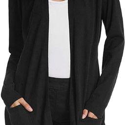 GRACE KARIN Essential Solid Open Front Long Knited Cardigan Sweater for Women | Amazon (US)