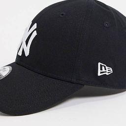 New Era MLB 9forty NY Yankees adjustable cap in black   ASOS (Global)