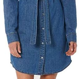 Wrangler Women's Retro Long Sleeve Western Denim Shirt Dress | Amazon (US)