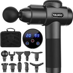 TOLOCO Massage Gun, Upgrade Percussion Muscle Massage Gun for Athletes, Handheld Deep Tissue Mass...   Amazon (US)