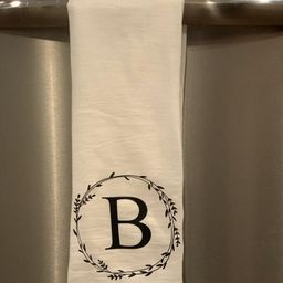 Personalized Dish Towel, Initial Dish Towel, Personalized Tea Towel, Kitchen Decor, Wedding Gift,... | Etsy (US)