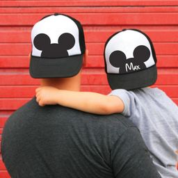 Mickey ears hat - family Disney Mickey Trucker hats - dad and son caps - Personalized Mickey truc... | Etsy (US)