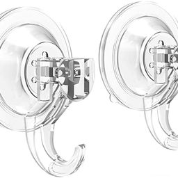 Suction Cup Hooks - Quntis Powerful SuperLock Suction Hooks (2 Pack) Heavy Duty Vacuum Suction Sh... | Amazon (US)