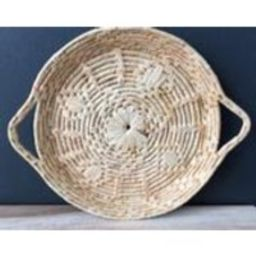 coiled woven basket tray / wall art | Etsy (US)