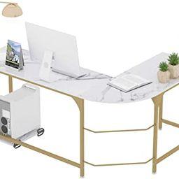 Teraves Reversible L-Shaped Desk Corner Gaming Computer Desk Office Workstation Modern Home Study... | Amazon (US)
