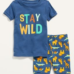 Unisex Short-Sleeve Pajama Set for Toddler & Baby | Old Navy (US)