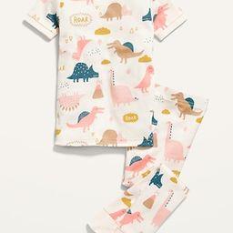 Unisex Dino-Print Pajama Set for Toddler & Baby | Old Navy (US)