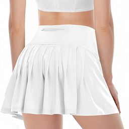 Pleated Tennis Skirts for Women Athletic Golf Skorts Activewear Running Sport Workout Skirts with... | Amazon (US)
