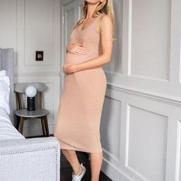 SHEIN Maternity Rib-knit Tank Dress | SHEIN