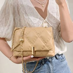 Quilted Chain Crossbody Bag | SHEIN