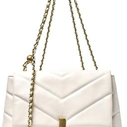 YXBQueen Fashion Purses and Handbags Chain Shoulder Bag for Women Chevron Quilted Crossbody Bag | Amazon (US)