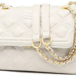 LAORENTOU Women's Leather Shoulder Bags Cowhide Quilted Handbags for Women Satchel Crossbody Bags... | Amazon (US)