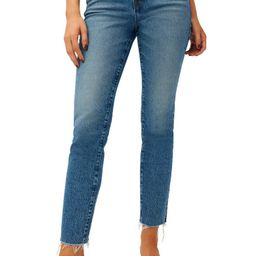 Good Classic High Waist Raw Hem Jeans | Nordstrom