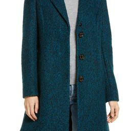 Notched Lapel Reefer Coat | Nordstrom