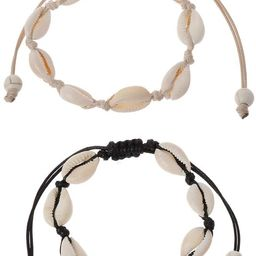 Abicial 1Pc Natural Cowrie Beads Shell Anklet Bracelet Handmade Hawaiian Beach Foot Jewelry | Amazon (US)