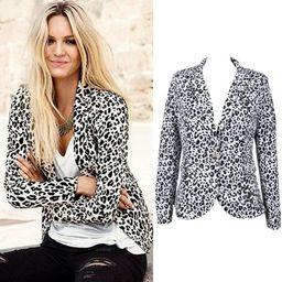 2018 New Women Leopard Blazer Jacket Brand Coat for Split Decoration In Back Set | Walmart (US)
