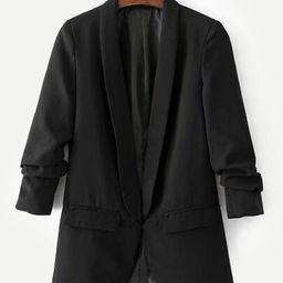 Shawl Collar Tailored Blazer | SHEIN