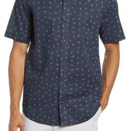 Bowrider Leaf Print Short Sleeve Button-Up Shirt | Nordstrom
