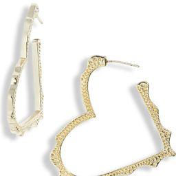 Sophee Heart Hoop Earrings   Nordstrom