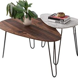 Two Piece Nesting Coffee Table Set Home Indoor Living Room Nest Tables Modern Contemporary Design...   Amazon (US)
