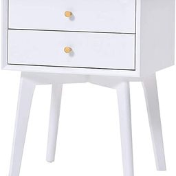 End table Bedside Table With Beech Solid Wood Leg - Nightstand Wood Bookcases Coffee Table Side E...   Amazon (US)