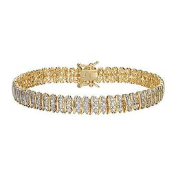 Sparkle Allure Fine Silver Plated Diamond Accent 7.25 Inch Round Tennis Bracelet | JCPenney