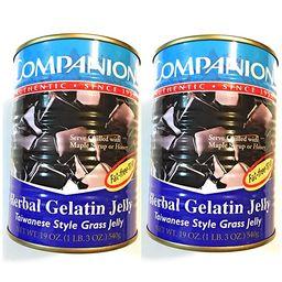 Companion Herbal Gelatin Jelly 19 Oz(2 Pack)爽滑凉粉仙草 | Amazon (US)