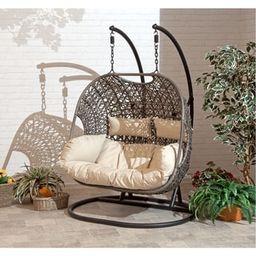 Brampton Espresso Cocoon Hanging Swing Chair   Overstock