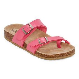 Arizona Fairhaven Womens Adjustable Strap Footbed Sandals | JCPenney