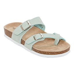 Arizona Fairhaven Womens Adjustable Strap Footbed Sandals   JCPenney