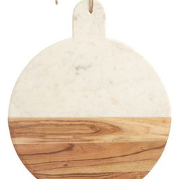 at Home Round Marble & Acacia Wood Serving Board   Nordstrom