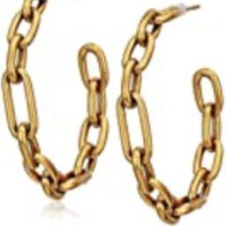 Kendra Scott Ryder Hoop Earrings Vintage Gold Metal One Size   Amazon (US)
