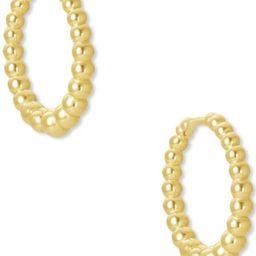 Kendra Scott 14k Gold-Plated Extra-Small Bead-Look Huggie Hoop Earrings, 0.43   Macys (US)