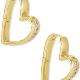 Kendra Scott 14k Gold-Plated Small Cubic Zirconia Heart Hoop Earrings   Macys (US)