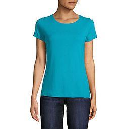 St. John's Bay Womens Crew Neck Short Sleeve T-Shirt | JCPenney