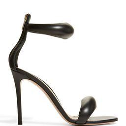 105mm Puffy Napa Ankle-Cuff Sandals | Neiman Marcus