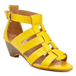 Charming Lady Women's Sandals YELLOW - Yellow Catana Heel - Women | Zulily