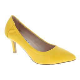 Weeboo Women's Pumps YELLOW - Yellow Pointed-Toe Cherry Kitten Heel - Women | Zulily