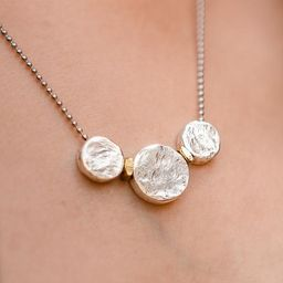 3 Silver Circles Adjustable Necklace | Lizzy James Jewelry