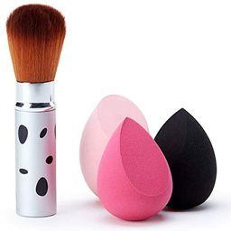 3-piece makeup sponge set with Powder Brush, makeup sponges sponge makeup Mixed sponge foundati...   Amazon (US)