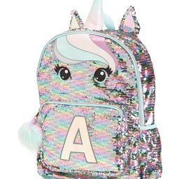 Flip Sequin Unicorn Initial Backpack | TJ Maxx