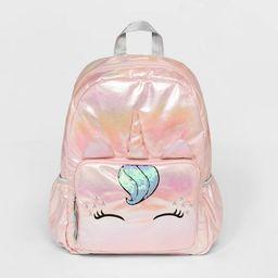 Girls' Iridescent Unicorn Backpack - Cat & Jack™ Pink | Target