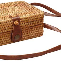 Women's Bali Rattan CrossbodyBags Handmade Straw Bags Bohemian Shoulder Bag | Amazon (US)